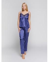 Пижама атлас синяя Serenade